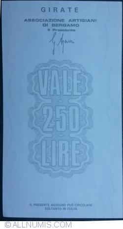 Image #2 of 250 Lire 1977 (26. I.) - Bergamo