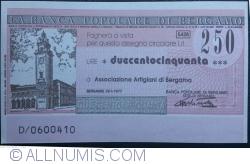 Image #1 of 250 Lire 1977 (26. I.) - Bergamo