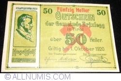 Imaginea #1 a 50 Heller 1920 - Brixlegg