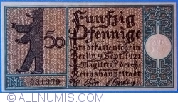 Imaginea #1 a 50 Pfennig 1921 (8) - Berlin