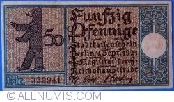 Imaginea #1 a 50 Pfennig 1921 (10) - Berlin