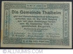 20 Heller 1920 - Thalheim bei Wels