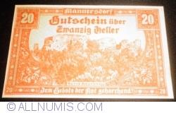 Image #1 of 20 Heller 1920 - Mannersdorf am Leithagebirge