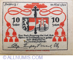 Imaginea #1 a 10 Heller 1920 - Salzburg
