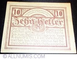 Imaginea #2 a 10 Heller 1920 - Hallstatt