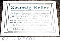 Imaginea #2 a 20 Heller 1920 - Marchtrenk