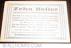 Imaginea #2 a 10 Heller 1920 - Marchtrenk