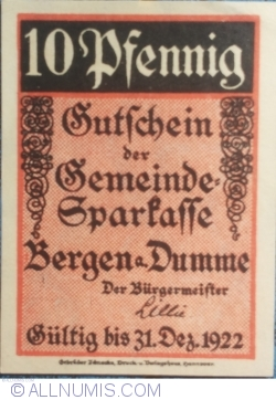 Image #1 of 10 Pfennig ND - Bergen an der Dumme