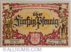 Imaginea #1 a 50 Pfennig 1921 - Neuruppin