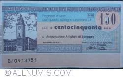 Image #1 of 150 Lire 1977 (15. IX.) - Bergamo