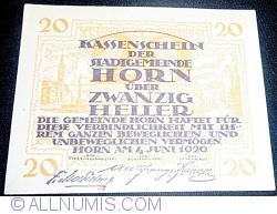 Imaginea #1 a 20 Heller 1920 - Horn