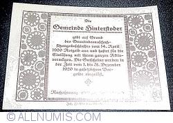 20 Heller 1920 - Hinterstoder