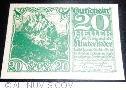 Imaginea #1 a 20 Heller 1920 - Hinterstoder