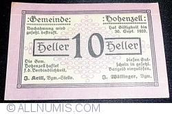 10 Heller 1920 - Hohenzell