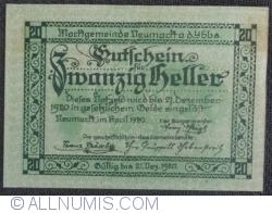 Imaginea #2 a 20 Heller 1920 - Neumarkt an der Ybbs