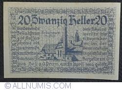 Imaginea #1 a 20 Heller 1920 - Zell an der Pram