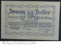 Imaginea #2 a 20 Heller 1920 - Zell an der Pram
