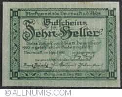 Imaginea #2 a 10 Heller 1920 - Neumarkt an der Ybbs