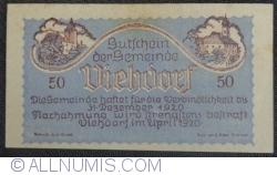 50 Heller 1920 - Viehdorf
