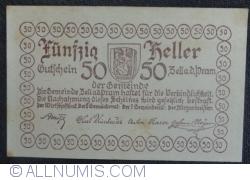 Imaginea #2 a 50 Heller 1920 - Zell an der Pram