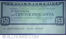 Imaginea #1 a 150 Lire 1977 (25. VII.) - Udine