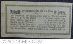 Imaginea #2 a 20 Heller 1920 - Zell an der Ybbs