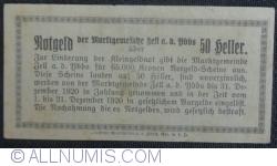 Imaginea #2 a 50 Heller 1920 - Zell an der Ybbs