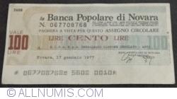 Image #1 of 100 Lire 1977 (17. I) - Novara