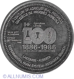 Image #2 of 1 Dollar 1986 - Lacombe