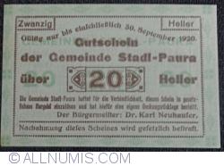 Imaginea #1 a 20 Heller 1920 - Stadl-Paura
