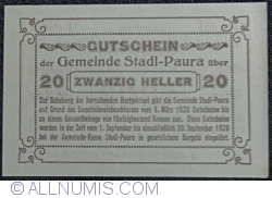Imaginea #2 a 20 Heller 1920 - Stadl-Paura