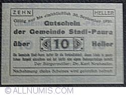 Imaginea #1 a 10 Heller 1920 - Stadl-Paura