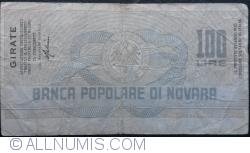 Imaginea #2 a 100 Lire 1977 (24. I.) - Novara