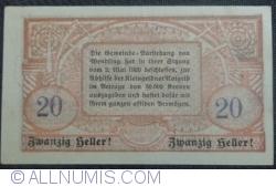 Imaginea #2 a 20 Heller 1920 - Wendling