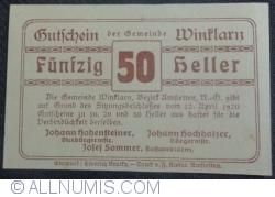 50 Heller 1920 - Winklarn