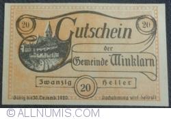 Imaginea #1 a 20 Heller 1920 - Winklarn