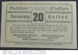 Imaginea #2 a 20 Heller 1920 - Winklarn