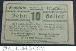 Imaginea #2 a 10 Heller 1920 - Winklarn