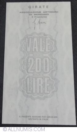 Image #2 of 200 Lire 1976 (22. XII.) - Bergamo