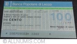 100 Lire 1977 (28. III.) - Lecco