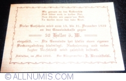 Image #2 of 50 Heller 1920 - Abstetten