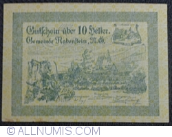 Imaginea #1 a 10 Heller 1920 - Rabenstein (Prima emisiune - 1. Ausgabe)