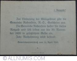 Imaginea #2 a 10 Heller 1920 - Rabenstein (Prima emisiune - 1. Ausgabe)