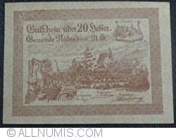 Imaginea #1 a 20 Heller 1920 - Rabenstein (Prima emisiune - 1. Ausgabe)