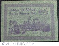 Imaginea #1 a 50 Heller 1920 - Rabenstein (Prima emisiune - 1. Ausgabe)