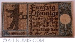Imaginea #1 a 50 Pfennig 1921 (18) - Berlin