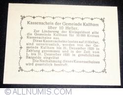10 Heller 1920 - Kallham