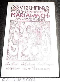 Imaginea #1 a 20 Heller ND - Maria Laach am Jauerling (2. Serie)