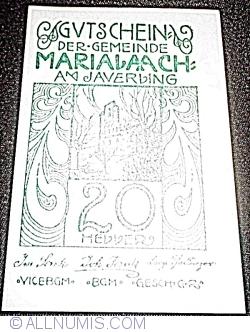 Imaginea #1 a 20 Heller ND - Maria Laach am Jauerling (3. Serie)