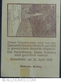 Imaginea #2 a 10 Heller 1920 - Hinterbrühl